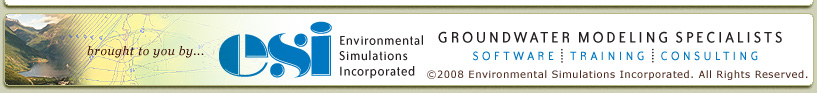 brought to you by ... ESI - Environmental Simulations Incorporated